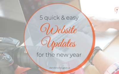 5 Quick & Easy Website Updates for the New Year